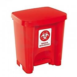Caneca roja 30 litros de pedal, Rimax.