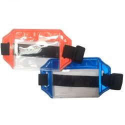 Brazalete portacarnet reflectivo - horizontal, Health Solutions.
