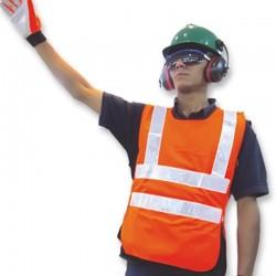 Chaleco reflectivo en poliéster tipo delantal, alta visibilidad, Zubi-ola.