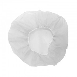 Gorros desechables bolsa por 100 uds, 61 cm, blanco.