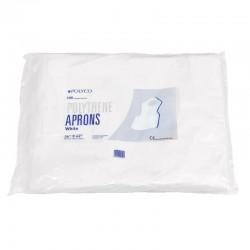 Delantal Desec, bolsa por 10 uds, tejida, blanco, antifluidos.