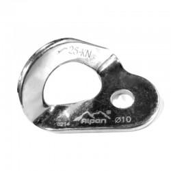 Chapa, anclaje fijo de acero con resistencia de 25 kn. Alpen.
