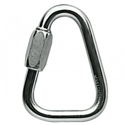 Maillon delta triangular en acero 8mm, 25 Kn, Petzl.