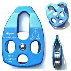 Polea con placas laterales móviles en aluminio, Alpen.