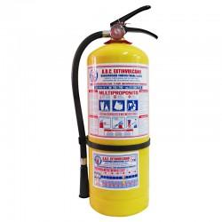 Extintor ABC multipropósito de 10 libras, producto nacional.