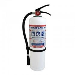Extintor Solkaflam de 10 libras, producto nacional.