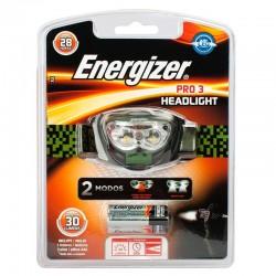 Linterna manos libres de 3 led para casco, Energizer.