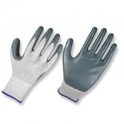 Guantes en nylon / fibra de carbono recubiertos en nitrilo, Producto importado.