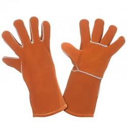 """Guantes welding corto de 14"""" ideal para soldadura, Producto importado."""