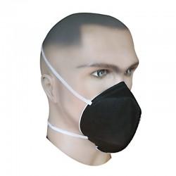 Mascarilla respirador tres capas (negra), Producto nacional.