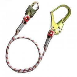 Eslinga de posición sencilla en cuerda con gancho estructurero Orbit.