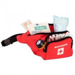 Botiquín tipo canguro de primeros auxilios, con dotación basica, Health Solutions.