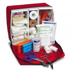 Botiquín tipo maletín mediano de primeros auxilios, incluye dotación. Health Solution.