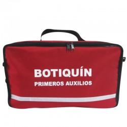 Botiquín tipo morral de primeros auxilios, incluye dotación. Health Solutions.