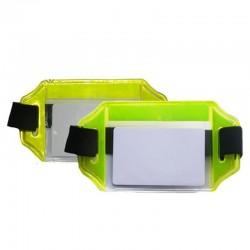 Brazalete portacarnet reflectivo, horizontal, Producto nacional.