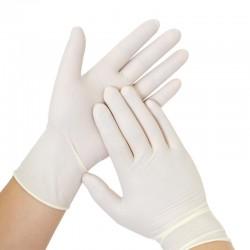 Par de guantes en latex, Producto importado.