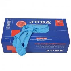 Guantes en nitrilo caja por 100 unidades (50 pares). Producto importado.
