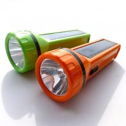 Linterna manual solar largo 12 centímetros, Producto importado.
