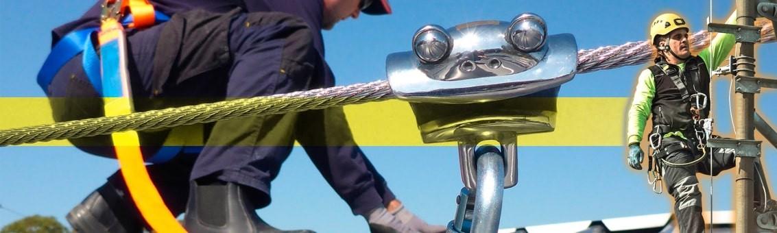Venta de líneas de vida verticales y horizontales certificadas para trabajo seguro en alturas